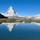 The Matterhorn, Switzerland reflected in Riffelsee Lake.