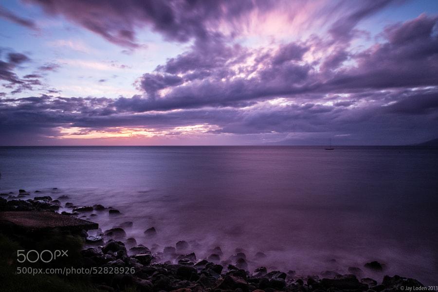 Sunset on Kama'ole Beach, Maui