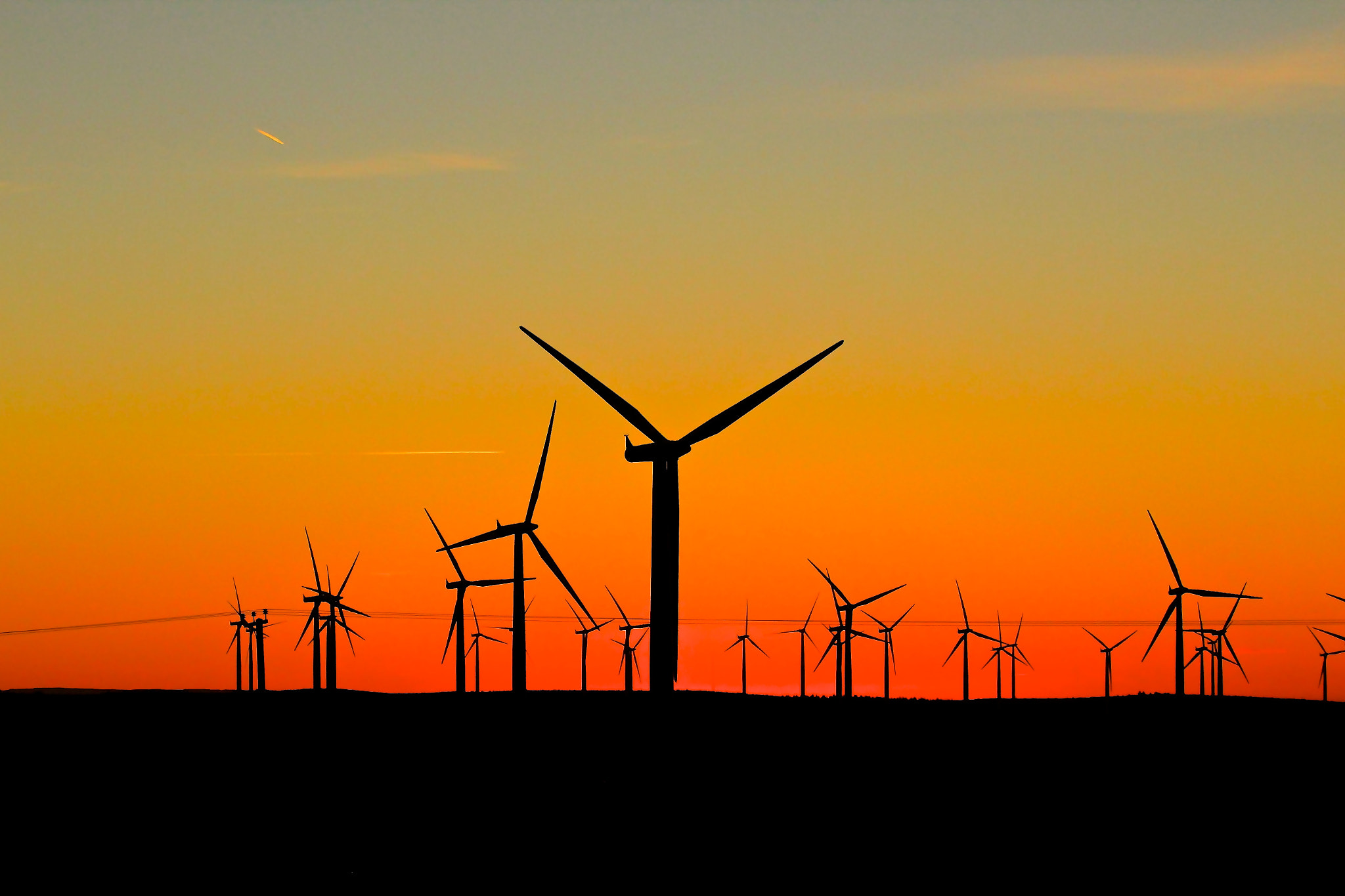 Photograph Windfarm Sunset by Ian McDermaid on 500px