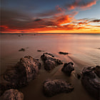 ������, ������: Red sunset @El matador beach