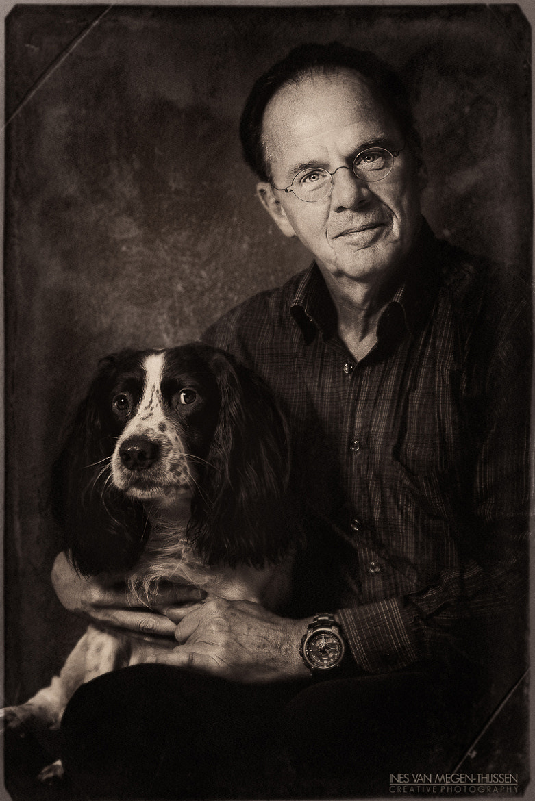 Photograph Portrait of the man and his dog by Ines van Megen-Thijssen on 500px