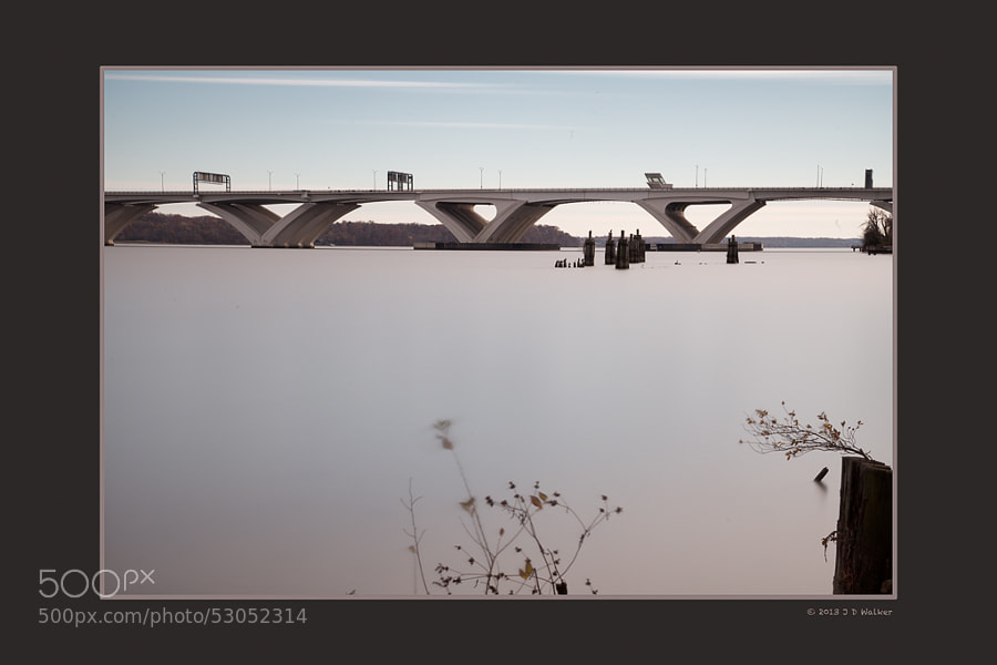 This is a 9 minute exposure during the middle of the afternoon.  Wilson Bridge is one of my favorite subjects ... doesn't move, doesn't smile, just looks beautiful/