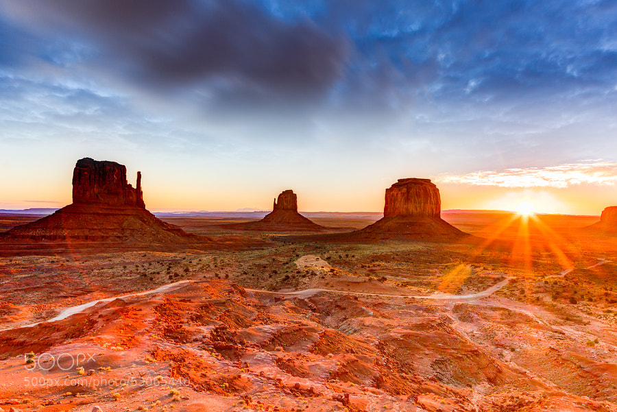 Sunrise on Monument Valley Navajo in fall