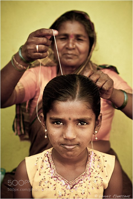 Photograph Indian girl and mother by Dennis Claessens on 500px