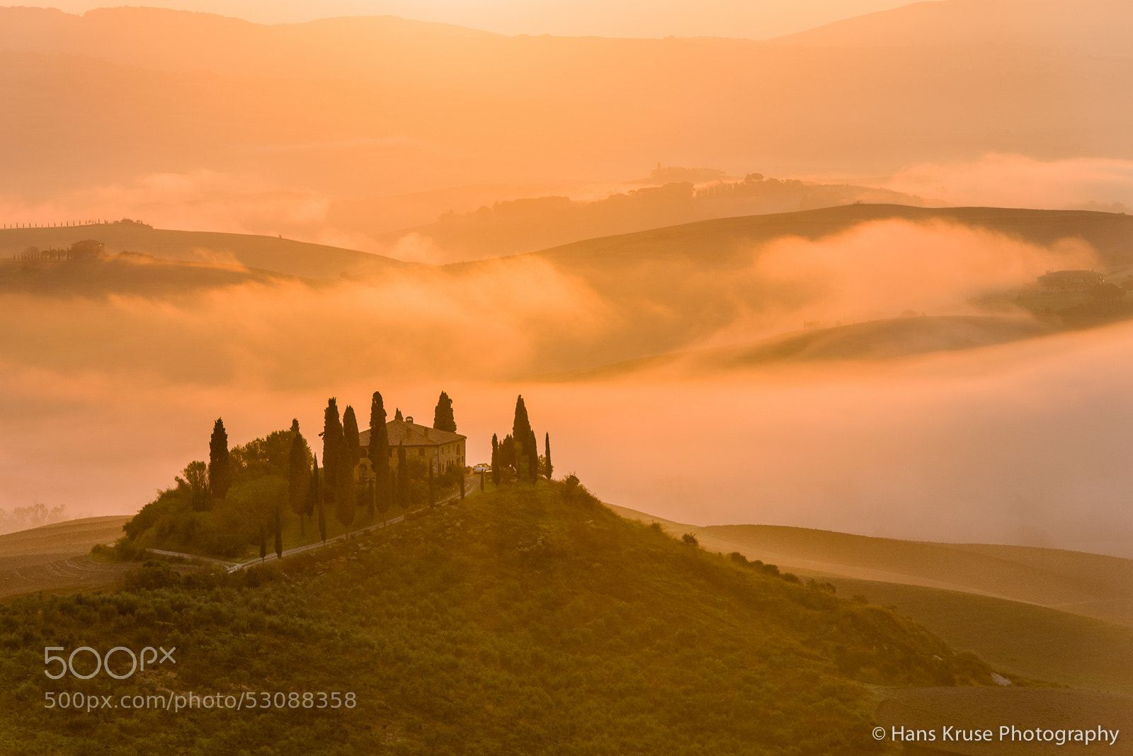 Photograph Tuscany morning with fog by Hans Kruse on 500px
