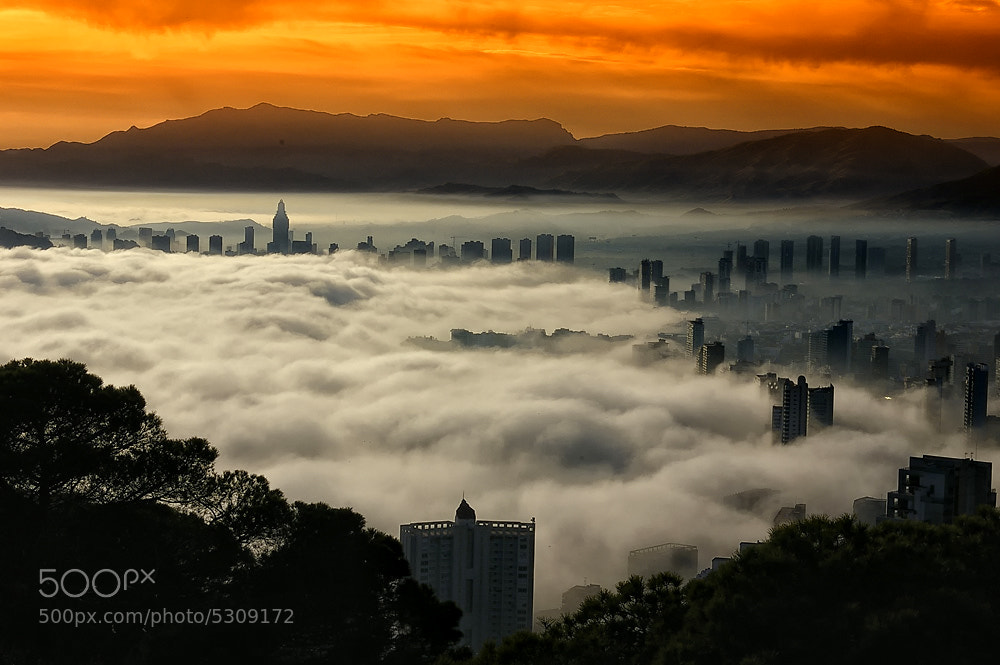 Photograph Fog in Benidorm by igor vasilev on 500px