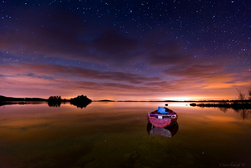 Photograph Stars on a calm Corrib by conor ledwith on 500px