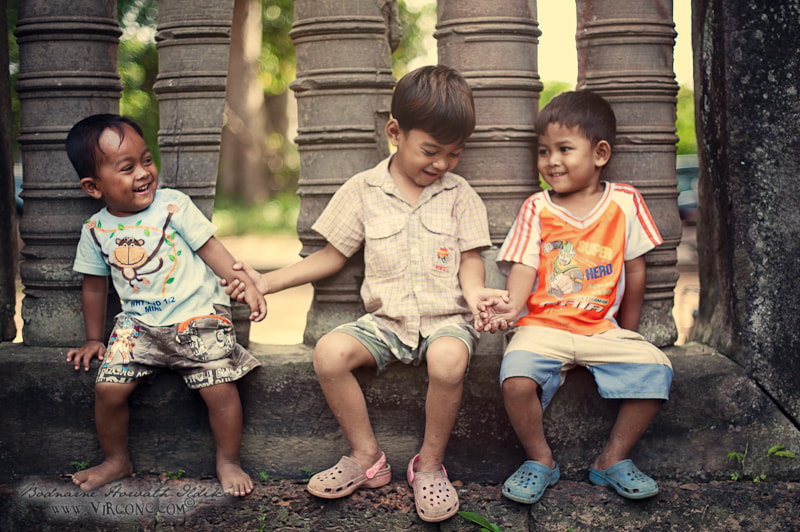 Photograph Kids of Angkor by Virgonc  .com on 500px