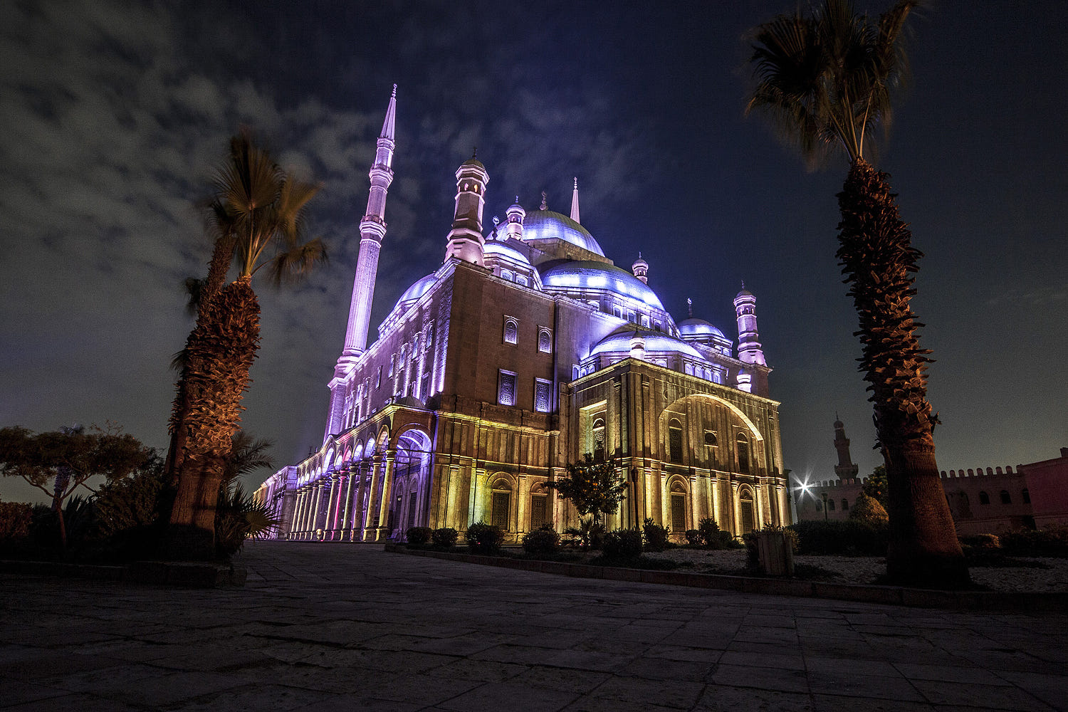 Image result for cairo citadel at night