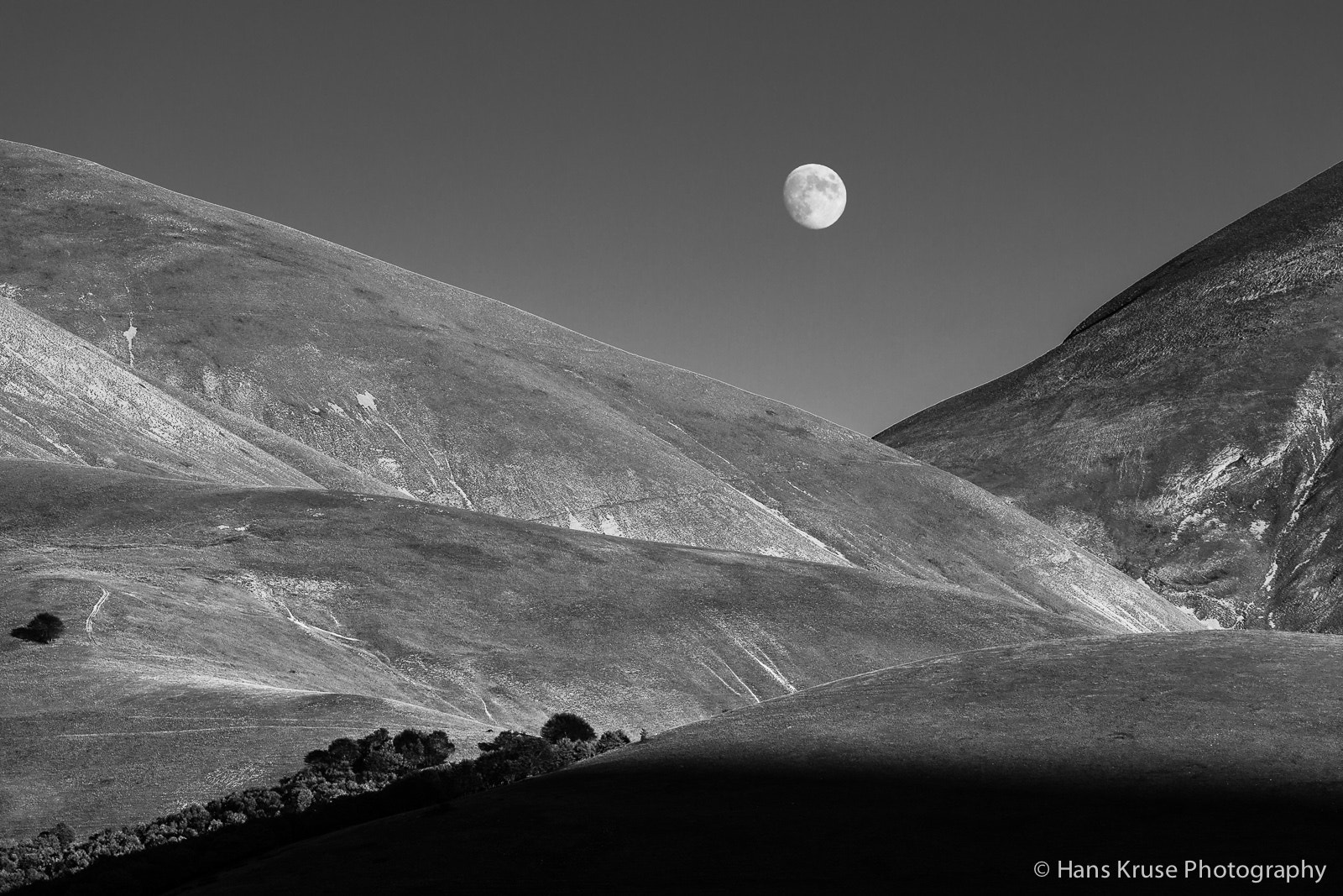 Photograph Rolling hills with moon on Piano Grande by Hans Kruse on 500px