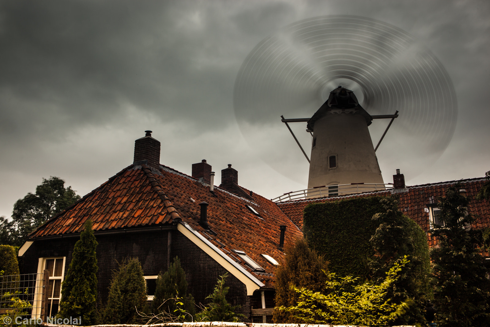 Photograph Fast Dutch Windmill by carlonic on 500px