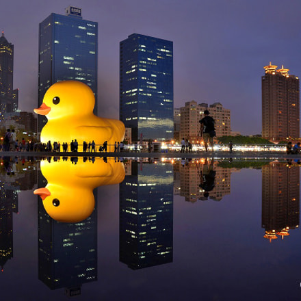Yellow duckling in Kaohsiung.