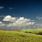 While driving towards Tilaran, we passed by several wind farms. At one point, we decided to stop and take a few photos of this magnificent landscape. While setting up the shot, I looked up, and saw two white horses ascending from behind the lush green hill in front of us. This was an entirely surreal, serendipituous moment, that split second when time comes to a standstill, and technology finds itself in lockstep with nature.<br />