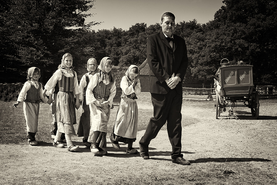 Teacher and his schoolgirls by Marco Møller on 500px.com