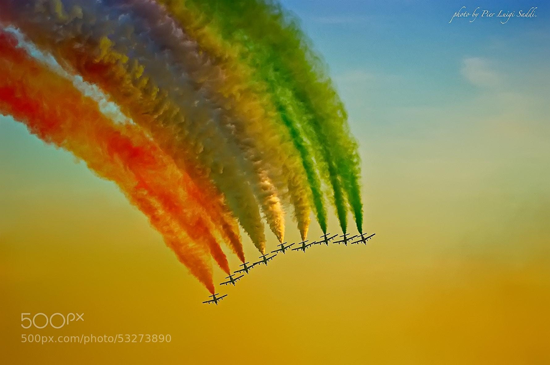 Photograph Frecce tricolori by Pier Luigi Saddi on 500px