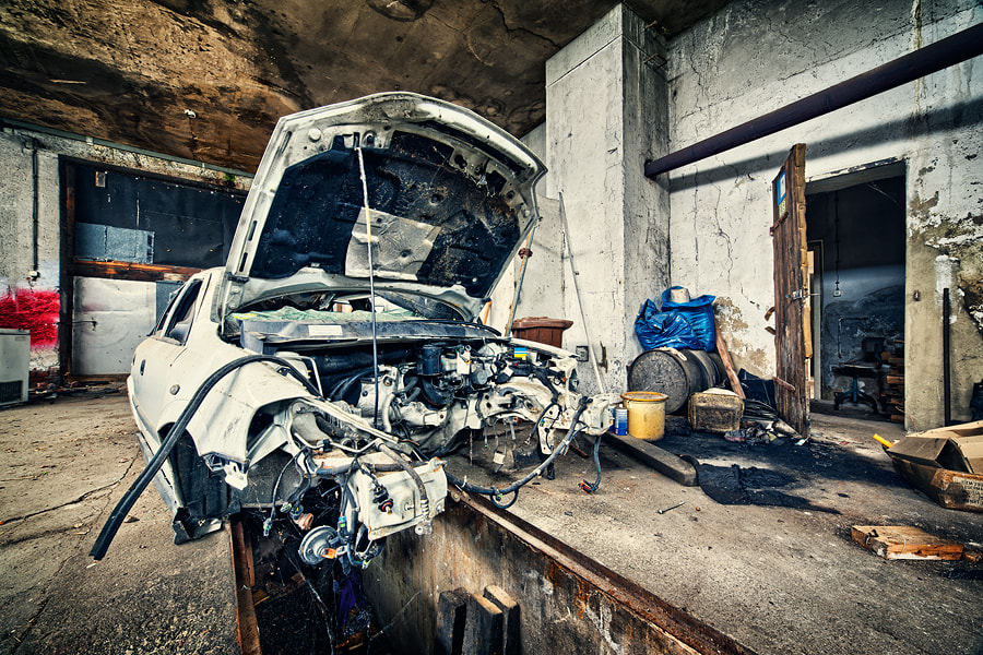 Photograph Abandoned Repair Shop by Lukasz Malkiewicz on 500px
