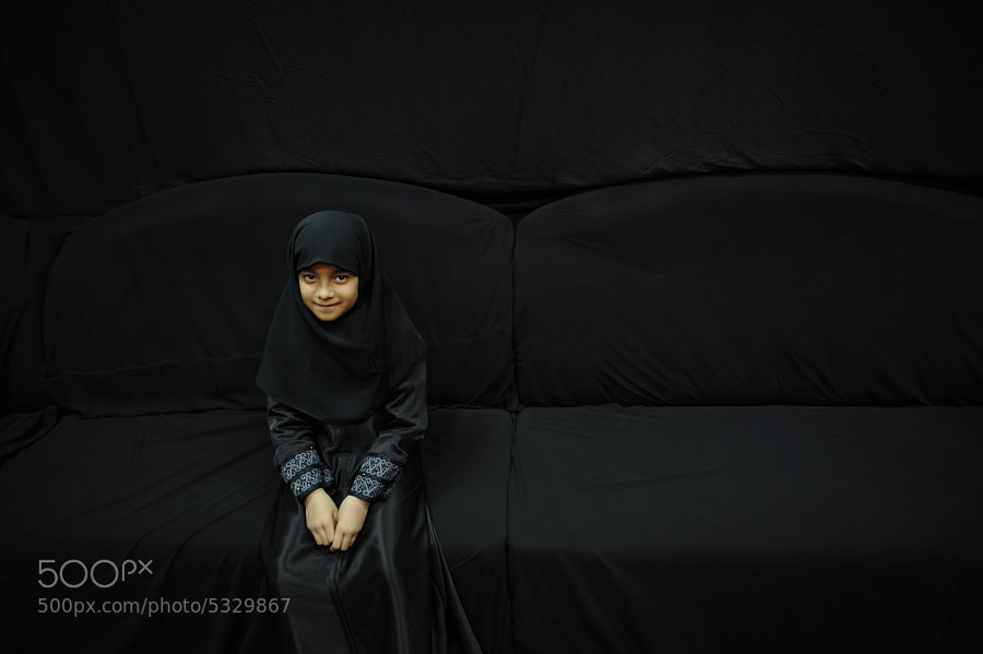Photograph Girl in Black by Mohammed Alshaikh on 500px