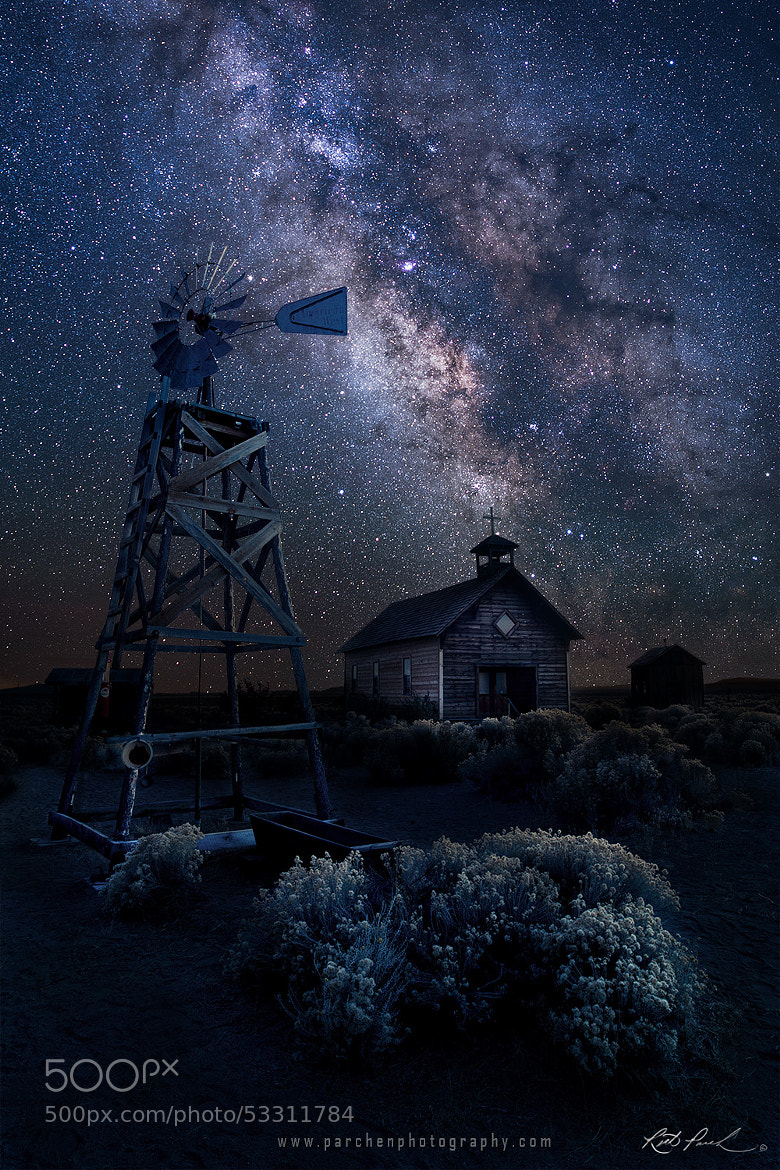 Photograph Oregon Homestead under the Milky Way by Rick Parchen on 500px