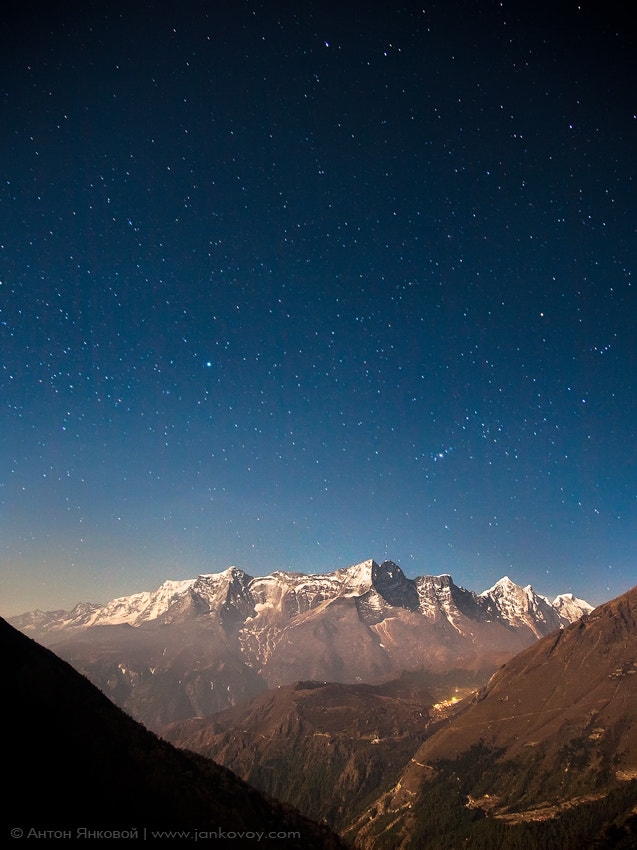 Photograph Stars above the Himalayas by Anton Jankovoy on 500px
