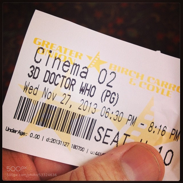 Photograph Finally. Doctor Who on the big screen: here I come. #doctorwho #bmnet #ppmovie #goldcoast by DJ Paine on 500px