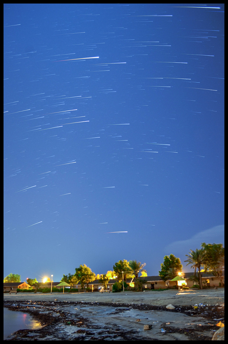 Photograph Star Trails beach by Hussain Ali on 500px