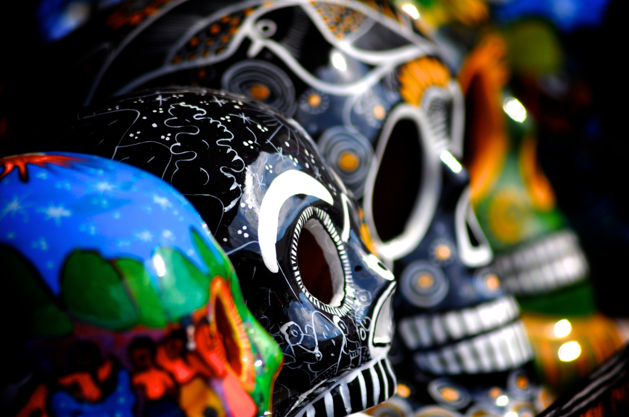 Photograph skulls of colors by Angel Hernandez on 500px