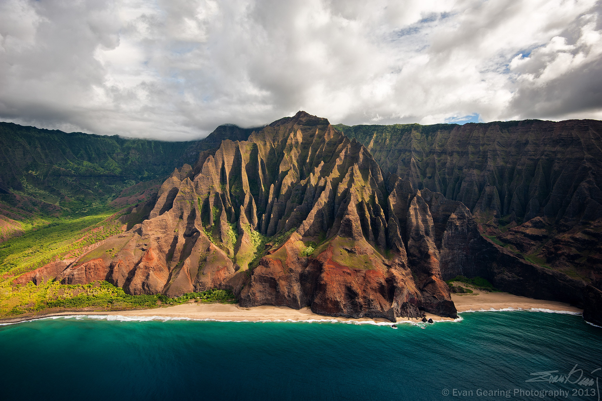 Photograph The Cathedrals of the Napali Coast, Kauai, Hawaii by Evan Gearing on 500px