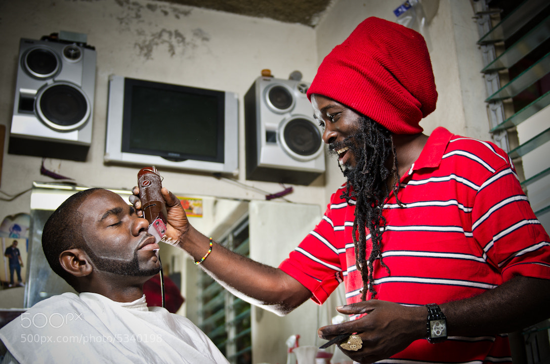Photograph Buju the Rasta Barber by Joel Finnigen on 500px