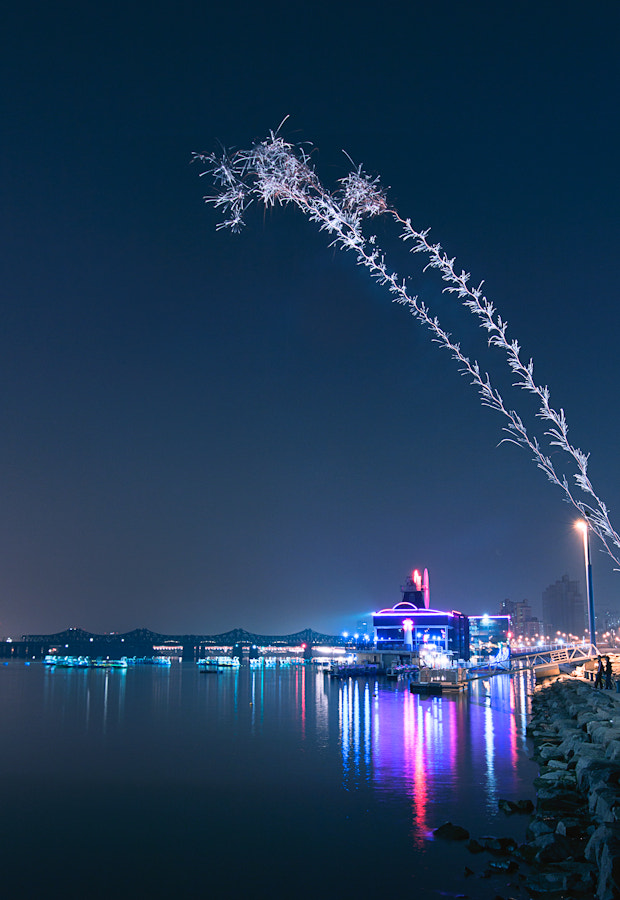 Photograph Fireworks on Han river by Loic Labranche on 500px