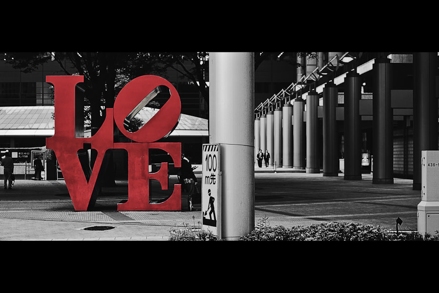 Photograph LOVE in Tokyo by Loic Labranche on 500px