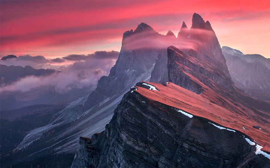 The Red Barrier by Max Rive on 500px.com