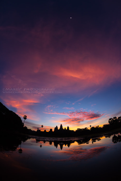 Photograph The World Heritage of Angkor Wat between Sunrise and Moon! by Mardy Suong Photography on 500px