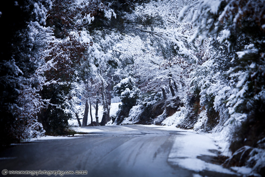 Photograph Road Throw The Snow by Marc Garrido on 500px