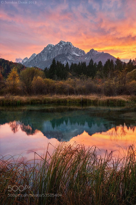 Photograph autumn sunset fire by Denis Sorokin on 500px