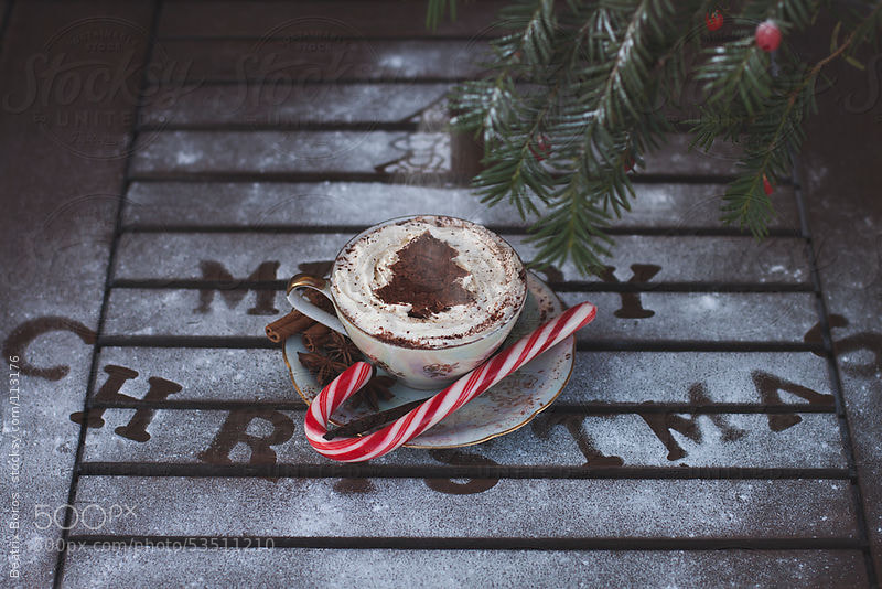 Photograph Hot drink with whipped cream for Christmas by Beatrix Boros on 500px