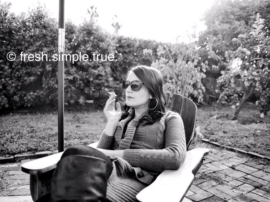 Medium format digital portrait of my daughter, who almost never let's me take her picture.