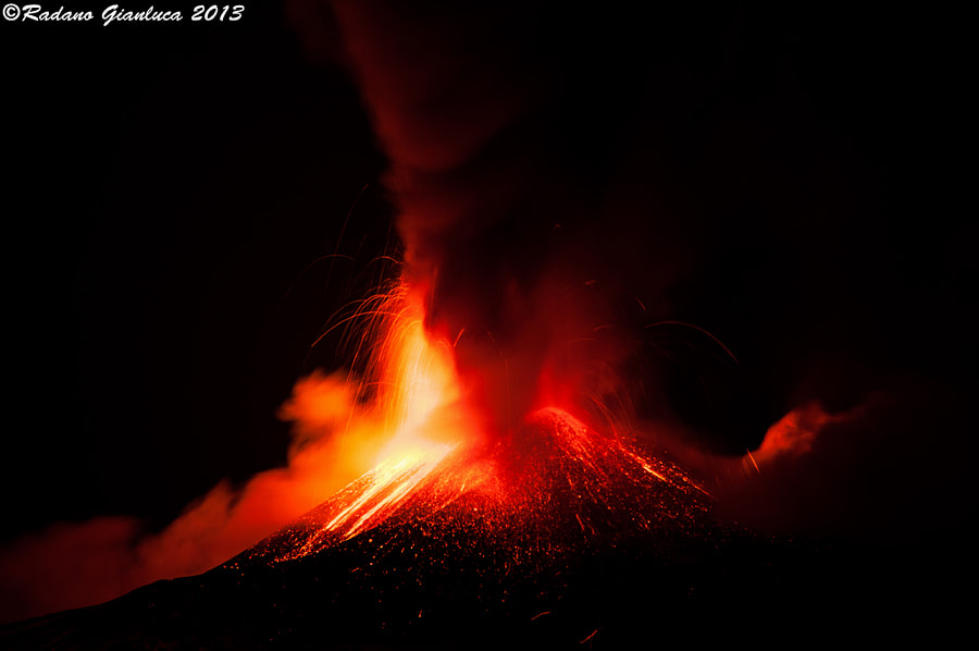 Photograph Eruption Etna by Gianluca Radano on 500px
