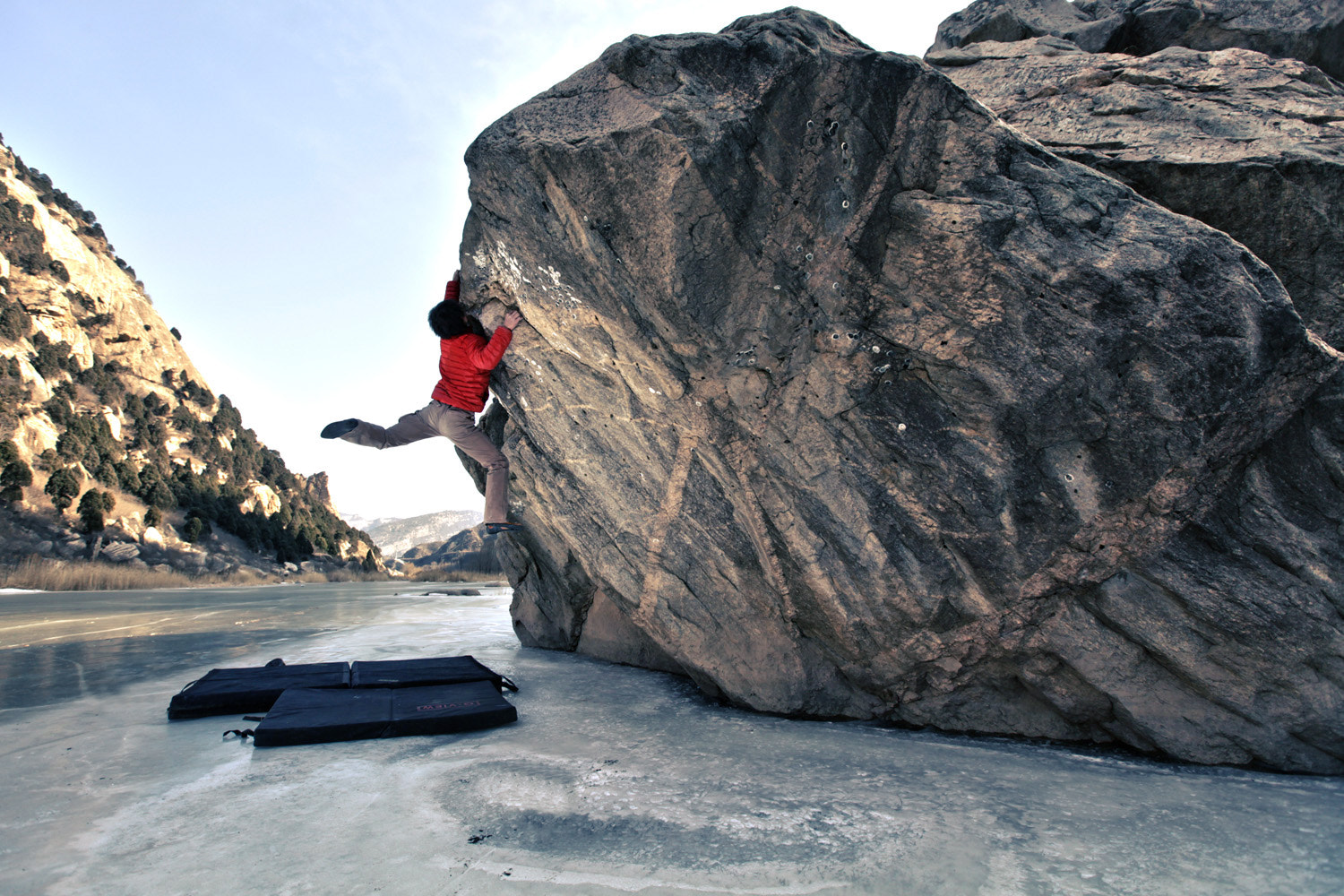 Photograph Deep Frozen Bouldering by   Griff on 500px