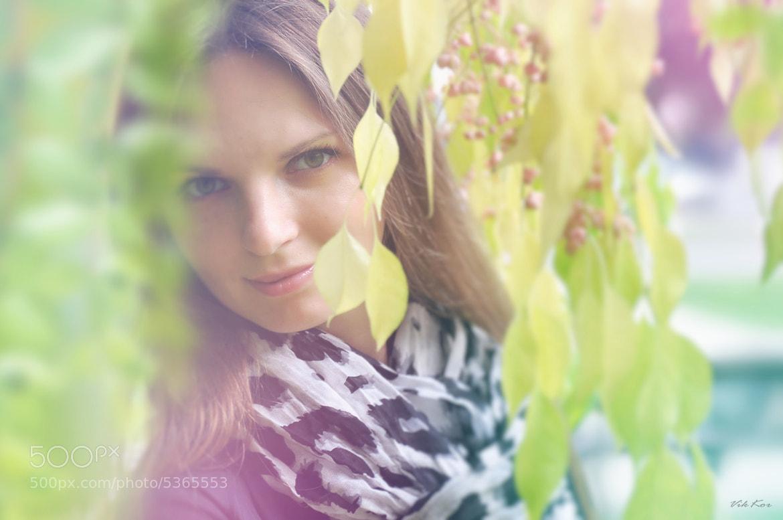 Photograph Girl in leaves by Viktor Korostynski on 500px
