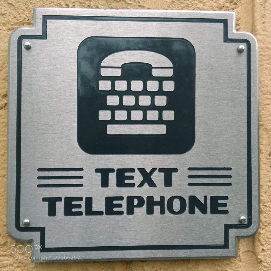 Text Telephone in California Adventures / Disneyland.