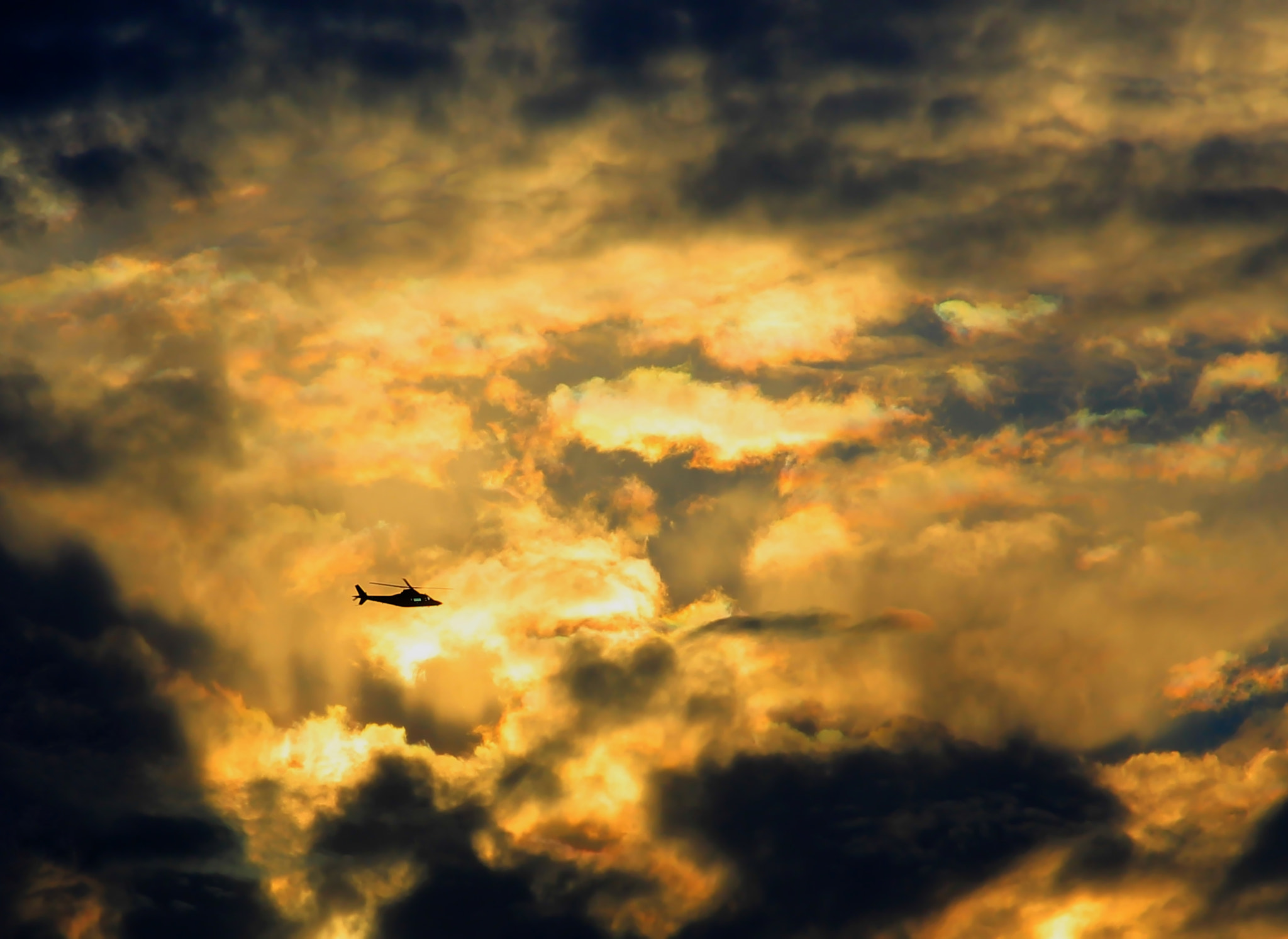 Photograph Sunset Helicopter by Georgina Gomez on 500px