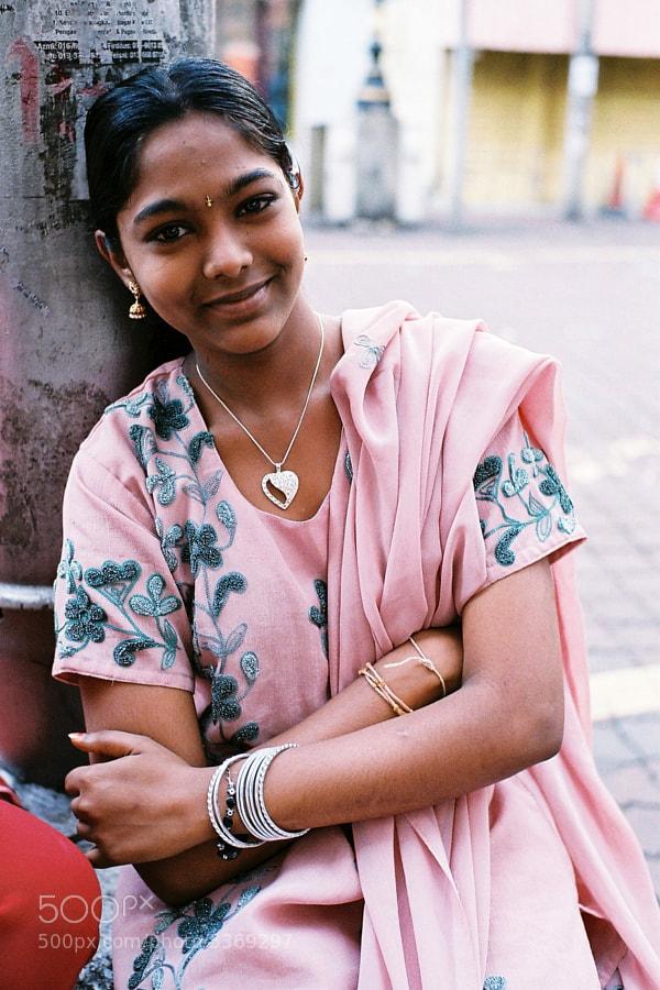I met her on the street. Love her big beautiful eyes! Kuala Lumpur, Malaysia.