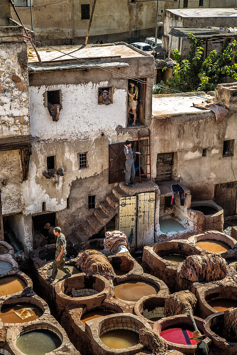 Photograph Dye PIts - Tannery - Fes el Bali - Morocco by Sandy Gennrich on 500px