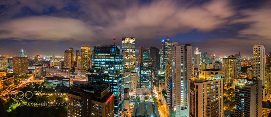 Photograph Makati City in Twilight by Chairat Juengmongkolwong on 500px