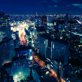 Tokyo, at night, taken from the Park Hyatt Tokyo, looking towards Shinjuku