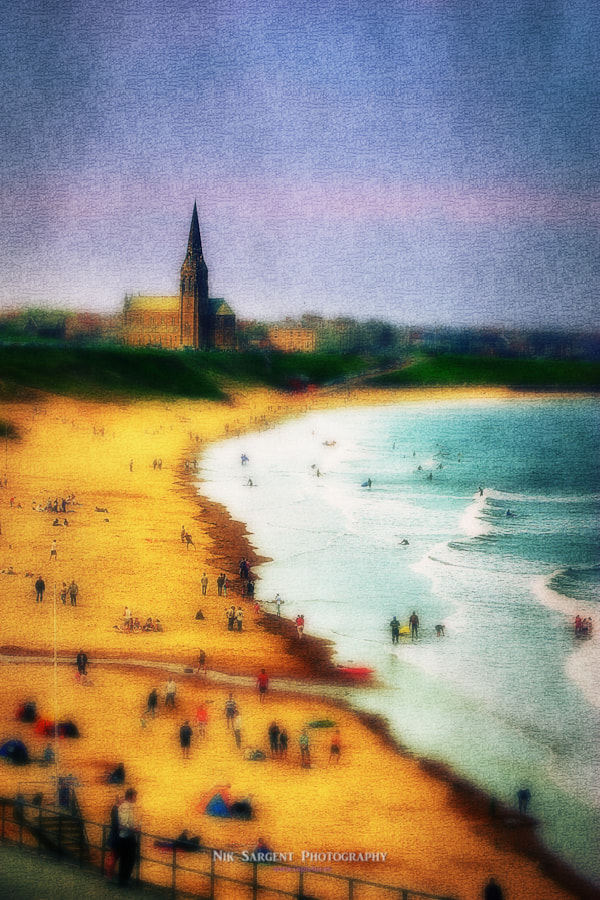 Part of the series of my textured / tilt-shift style, which gives an impression of figures slightly reminiscent of the artist Lowry