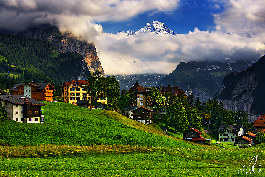 Between us and heaven is not death, but only our desire to recognize it  Wengen, Switzerland