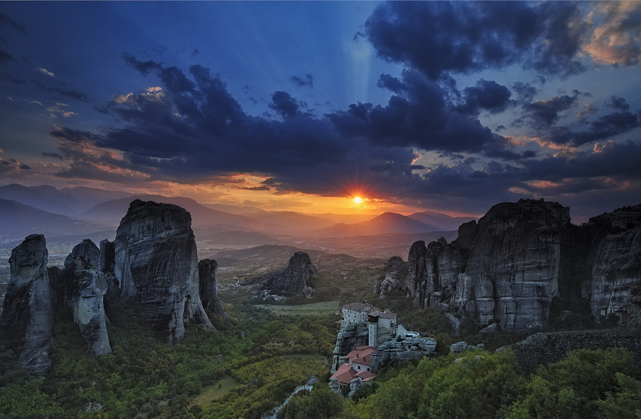 Photograph Sunset in Meteora by Marina Parha on 500px