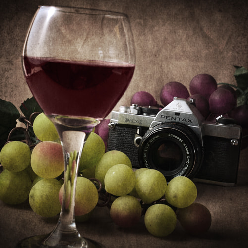 Photograph Wine and Camera Still Life by Karen Janas on 500px