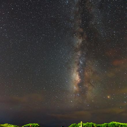 Taiwan Kending seashore Milky Way